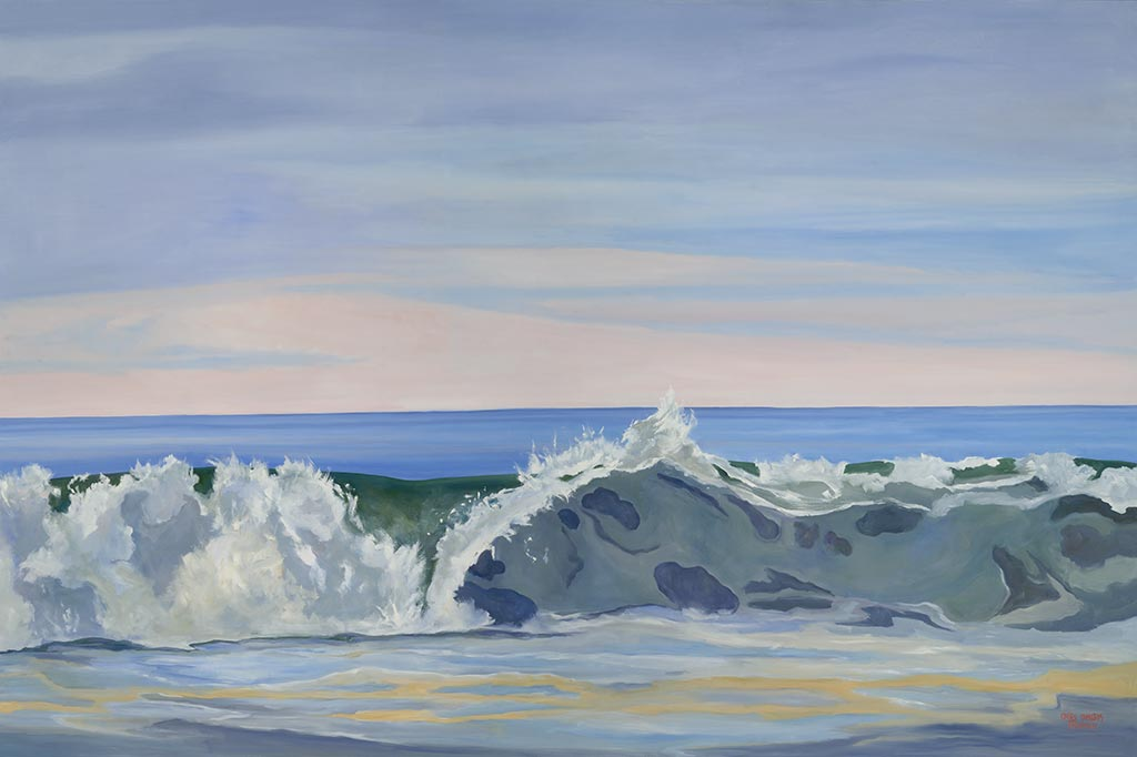 Jumbo Advancing Wave, 48 x 72, oil on canvas