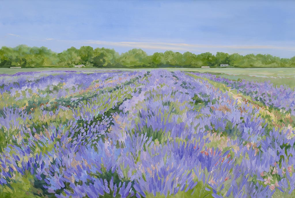 Lavender by the Bay, 24 x 36, oil on canvas
