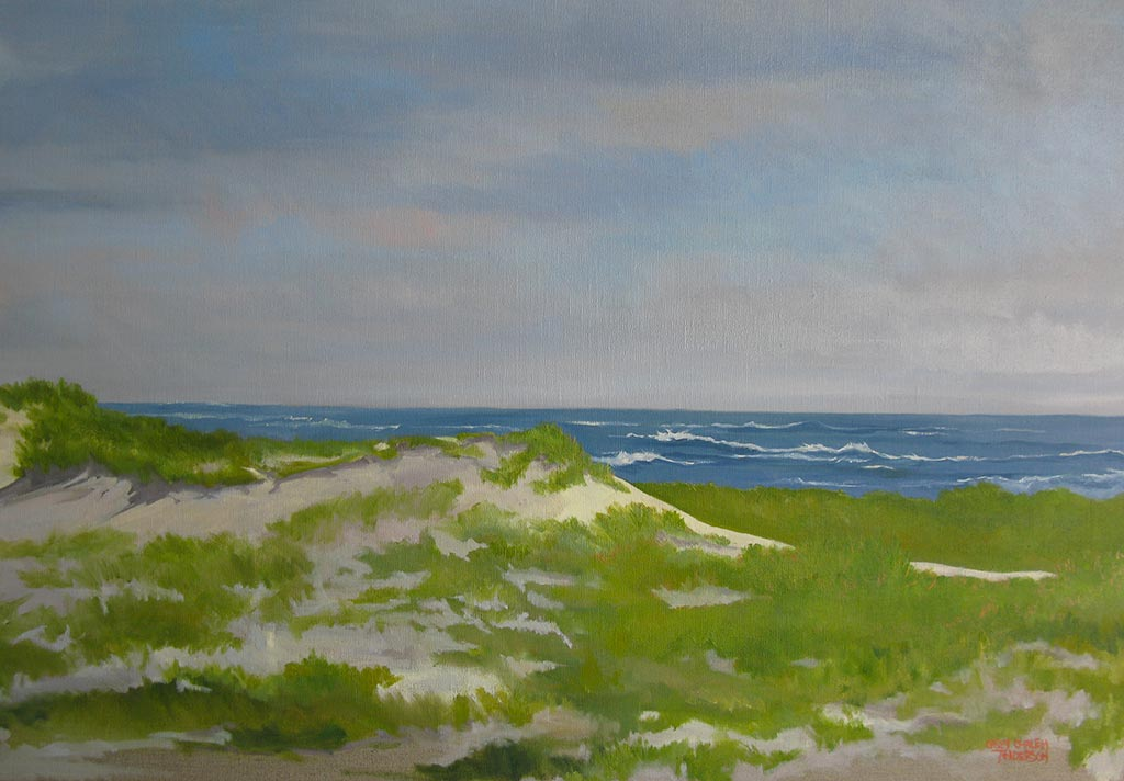 New Dune Beach Morning, 24 x 36, oil on linen