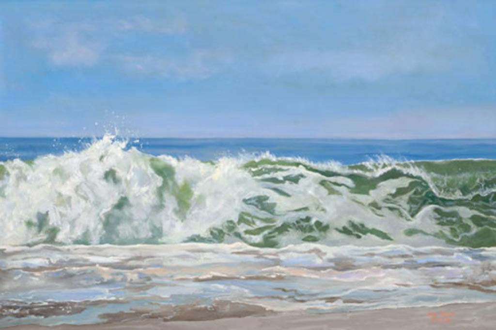 Sparkling Surge, 24 x 36, oil on canvas