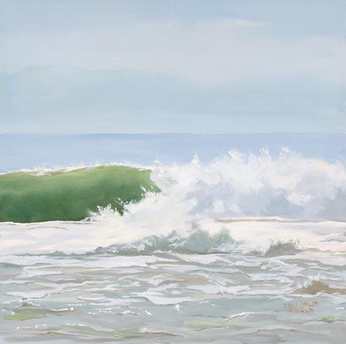 Clean Green Curl Print