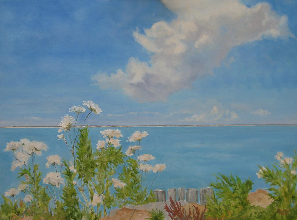 Long Beach Sag Harbor Cloud and Lace, 30 x 40, oil on canvas