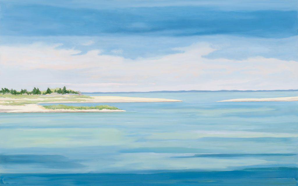 Aqua Storm, 30 x 40, oil on canvas