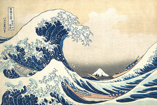 "Katsushika Hokusai ""The Great Wave off Kanagawa"" from 36 Views of Mount Fuji"