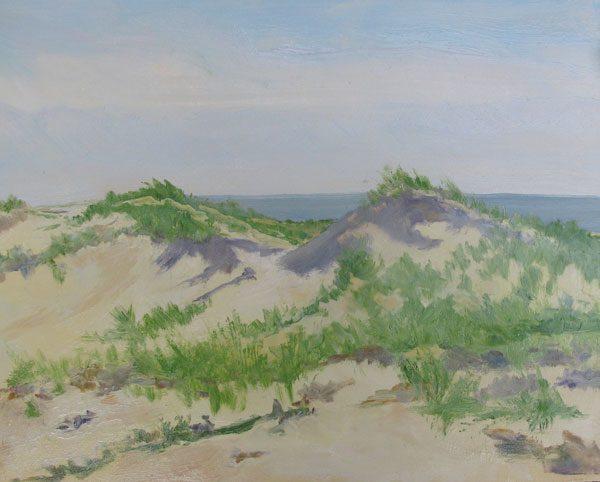 Dune Beach Morning, 8 x 10, oil on panel