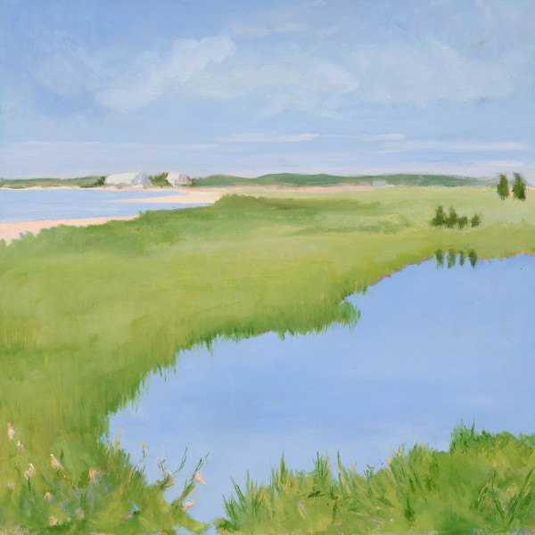 Salt Marsh Blues, 12 x 12, oil on board