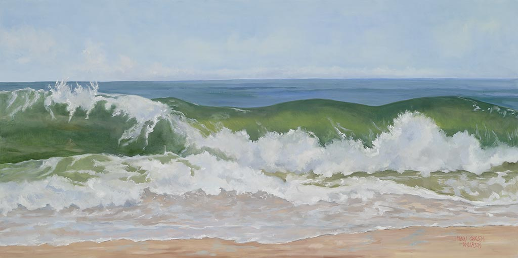 Explosive Surf, 24 x 48, oil on canvas