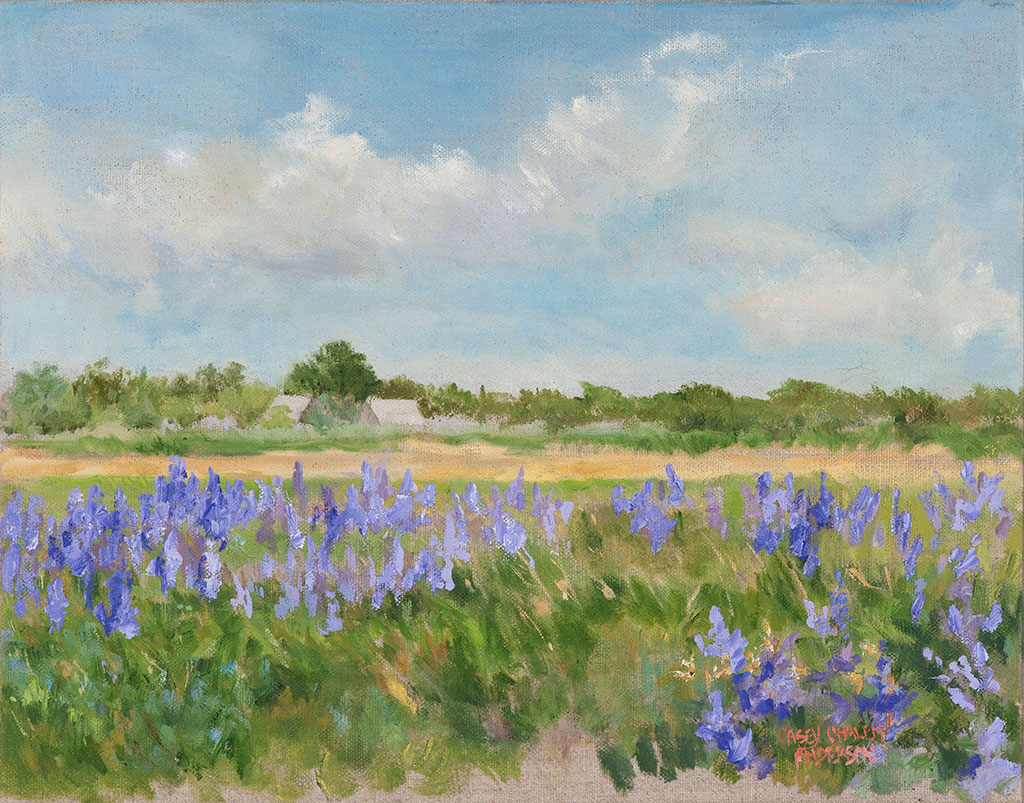Lupine Field Zohn Property, 11 x 14, oil on linen