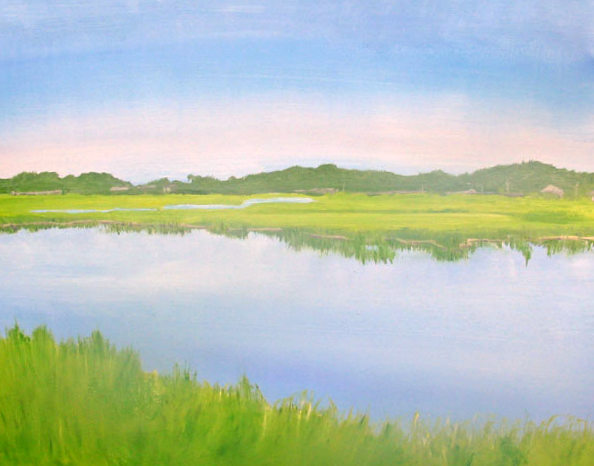 Salt Marsh Glow, 11 x 14, oil on canvas