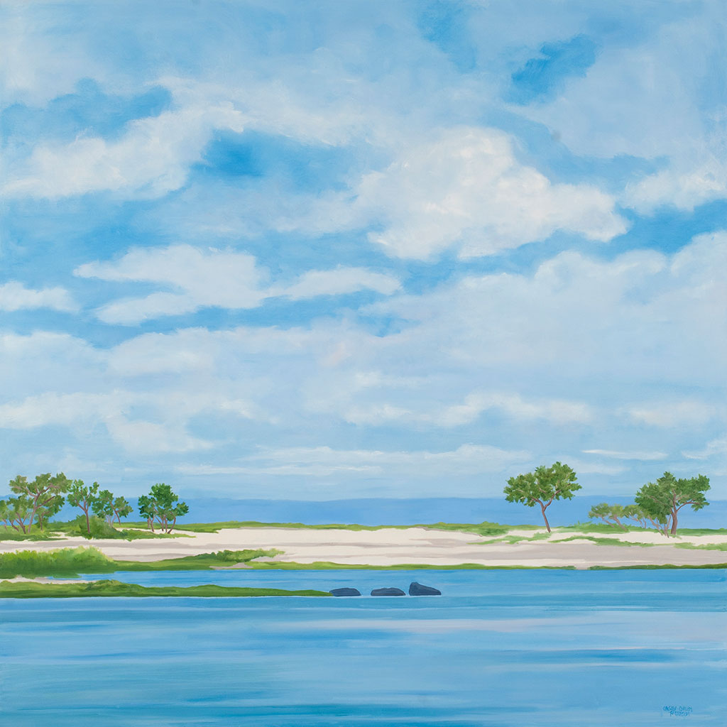 Blue Expanse at Dam Pond North Fork, 48 x 48, oil on canvas