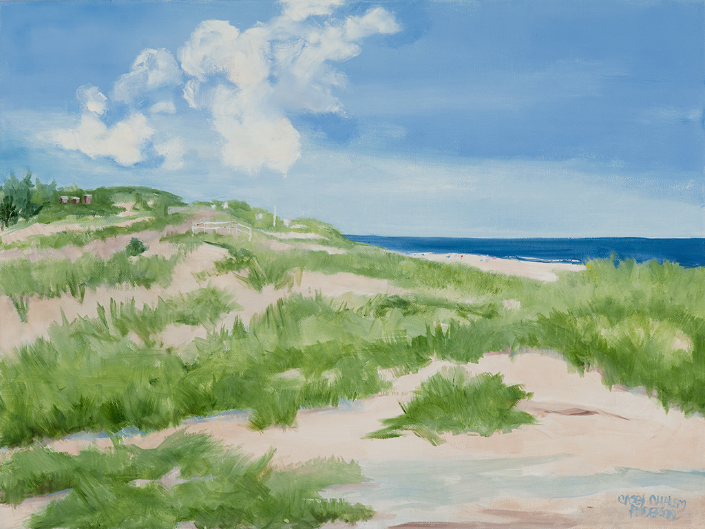 Dune Beach Overlook, 20x24, oil on canvas