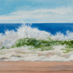 Dune Beach Rolling Wave, 12 x 12, oil on wood, $795