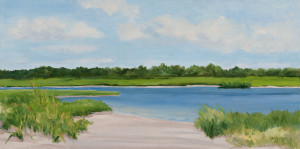 Scallop Pond, 12 x 24, oil on canvas, $800.