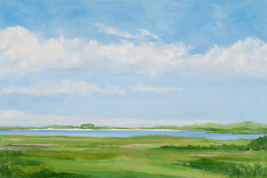 Wainscott Pond, 24 x 36, oil on linen, $2,800