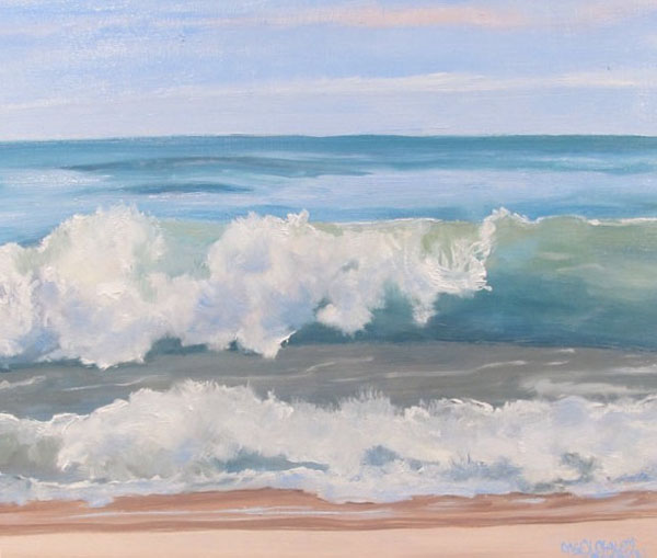 October Sea, 8 x10, oil on wood