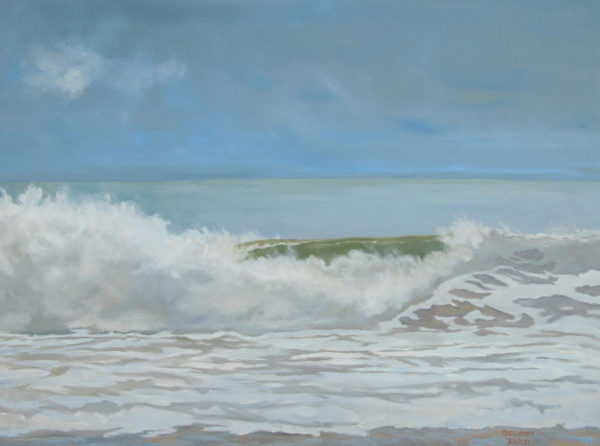 Morning Wave Dune Beach, 30 x 40, oil on canvas