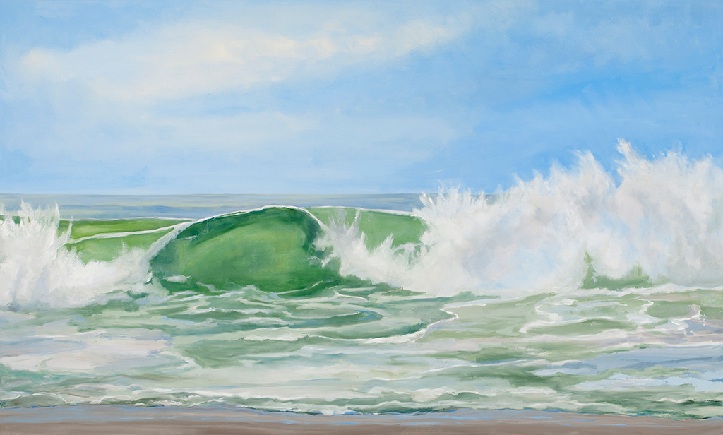 Emerald Surf, 30 x 48, oil canvas