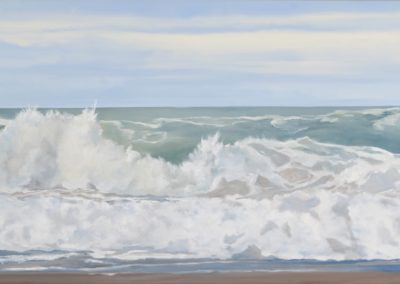 Wild Ocean, 30 x 60, oil on canvas