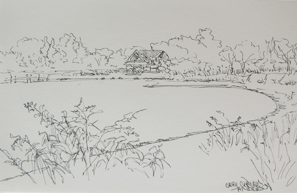 North Haven Autumn pen and ink 5.5x 8.5
