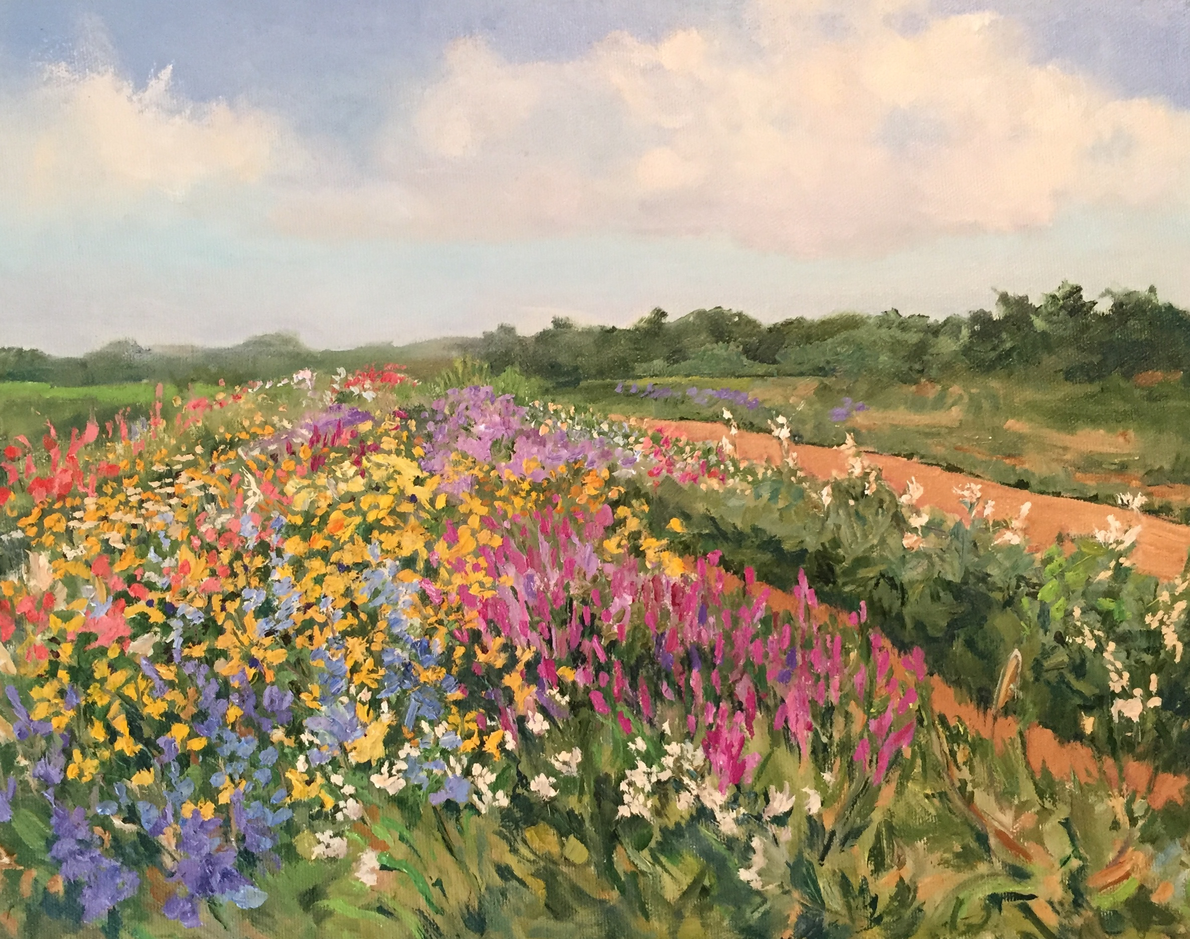 Painting In The Field Casey Chalem Anderson